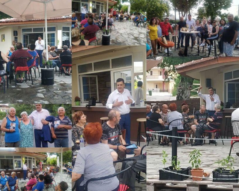 O υποψήφιος βουλευτής Ημαθίας Φώτης Κουτσουπιάς στο κέντρο της Βέροιας - Επισκέφθηκε και την Πατρίδα