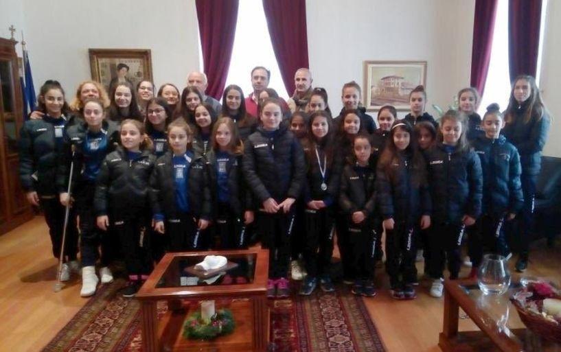 Οι αθλήτριες της Αισθητικής Γυμναστικής του Φιλίππου στον Δήμαρχο Βέροιας
