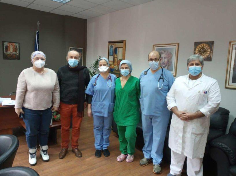 Εθελοντές ιδιώτες γιατροί στο Νοσοκομείο Βέροιας - Ευχαριστήριο σε όλο το προσωπικό του Ιδρύματος για την υπεράνθρωπη προσπάθεια