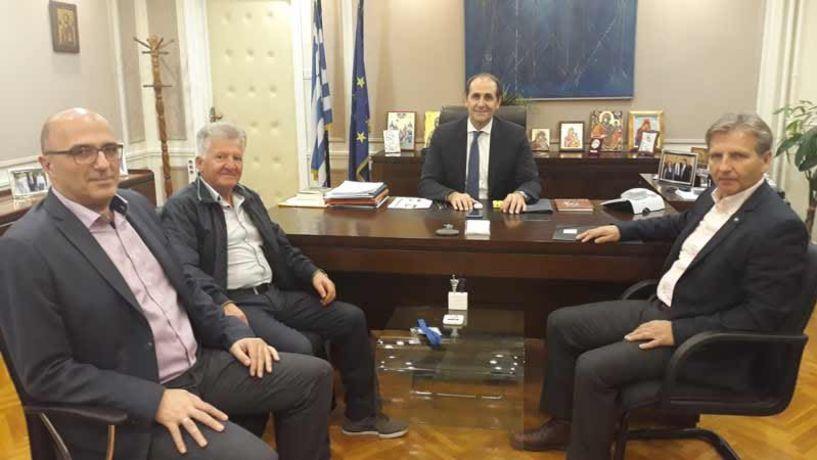 Συνάντηση του Προεδρείου της ΠΟΕ-ΔΕΥΑ με τον Υφυπουργό Οικονομικών  Απ. Βεσυρόπουλο