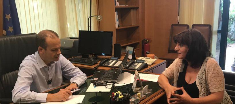 Με τον γ.γ. Μεταφορών συναντήθηκε η  Φρ. Καρασαρλίδου  για τον Προαστιακό Σιδηρόδρομο και τη σύνδεση Θεσσαλονίκης - Ημαθίας
