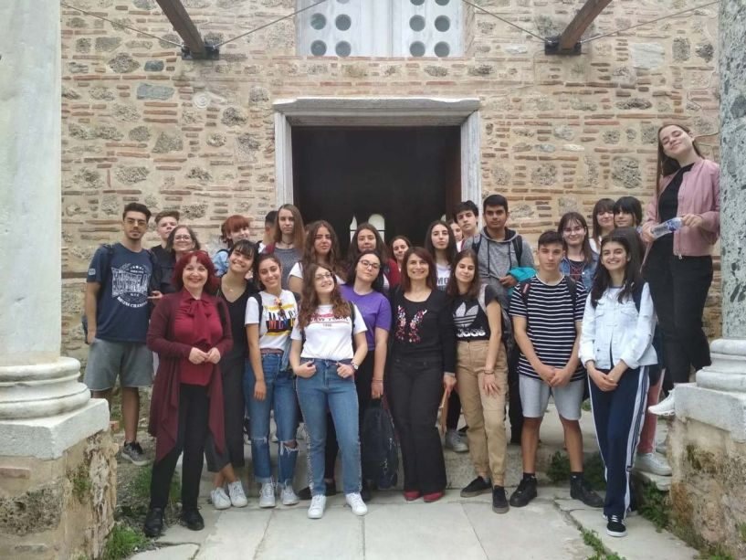 To 4o ΓΕΛ Βέροιας στην Παλιά Μητρόπολη  Βέροιας - Στα πλαίσια του προγράμματος  «Ξεναγώ την τάξη μου»