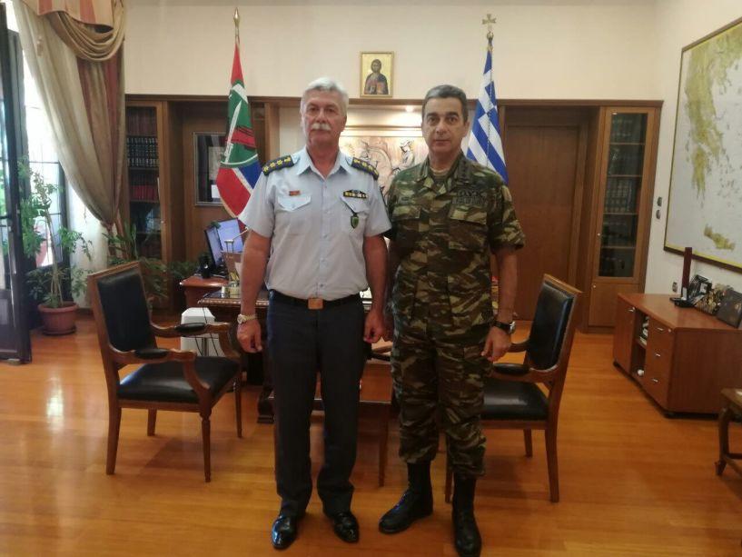 Επίσκεψη του νέου Αστυνομικού Διευθυντή Δ. Κούγκα στον Διοικητή Φρουράς της Ημαθίας, Υποστράτηγο Σ. ΚΟΛΟΚΟΥΡΗ