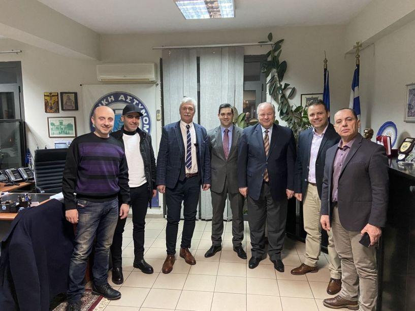 Ο Γενικός Γραμματέας Δημόσιας Τάξης  Κωνσταντίνος Τσουβάλας επισκέφθηκε τη Διεύθυνση Αστυνομίας Ημαθίας