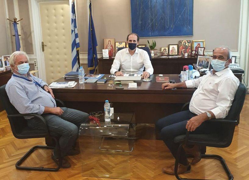 Επίσκεψη το VAENI ΝΑΟΥΣΑ στον Υφυπουργό Οικονομίας Απ. Βεσυρόπουλο