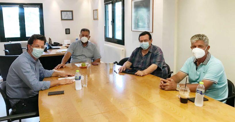 Συνάντηση του Βουλευτή Άγγελου Τόλκα με Αποστόλου, Γιαννακάκη και Μηνά για την στήριξη των παγετόπληκτων παραγωγών και των επιχειρήσεων