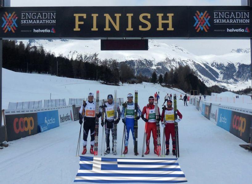 Άξιοι εκπρόσωποι της Ημαθίας στην Ελβετία για τον Μαραθώνιο του σκι αντοχής