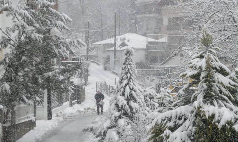 Καιρός: Ποιες περιοχές βρίσκονται στο «μάτι» της Πηνελόπης - Χιόνια, κρύο και μποφόρ