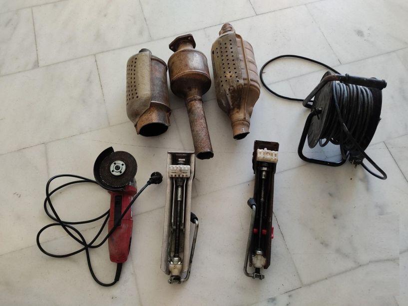 Ημαθία. Σύλληψη δύο αλλοδαπών με διαρρηκτικά εργαλεία και καταλύτες αυτοκινήτων
