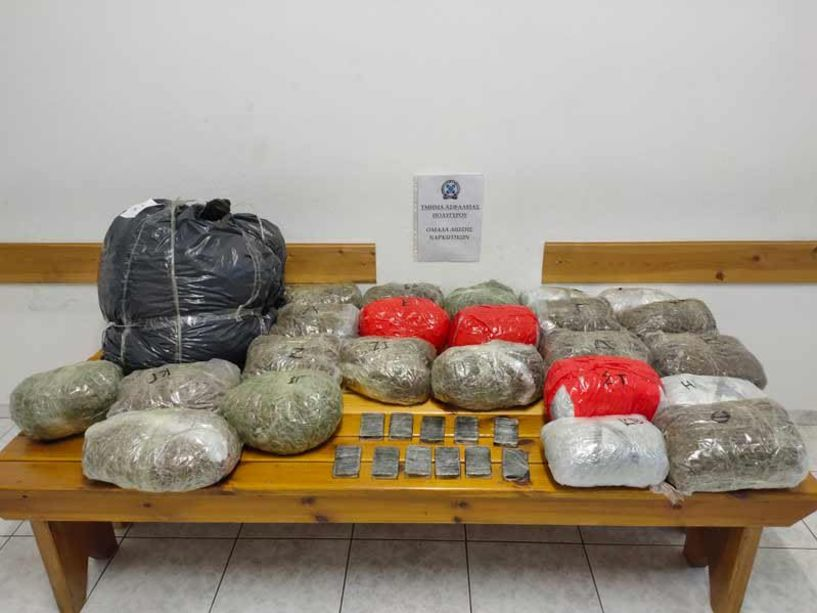 Συνελήφθη 48χρονος με 33 κιλά κάνναβης στην Εγνατία Οδό