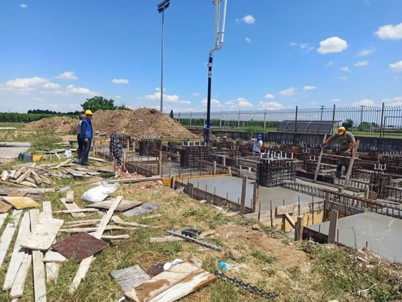 Ξεκίνησαν  οι εργασίες για την κατασκευή μεταλλικών κερκίδων στο γήπεδο Αγίου Γεωργίου