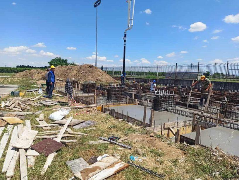 Σε εξέλιξη οι εργασίες για την κατασκευή Μεταλλικών Κερκίδων στο γήπεδο Αγίου Γεωργίου