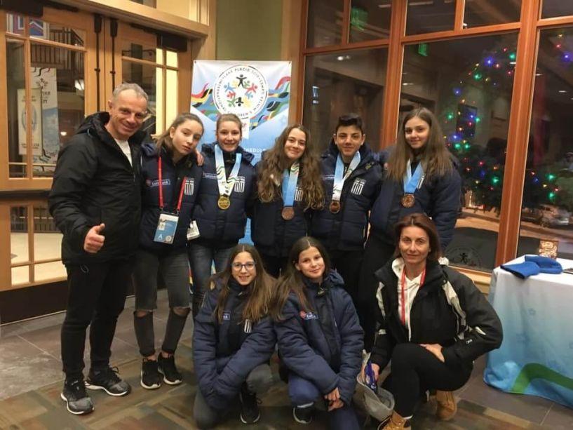Με 4  μετάλλια επέστρεψε από την Αμερική η ομάδα χιονοδρομίας της Νάουσας