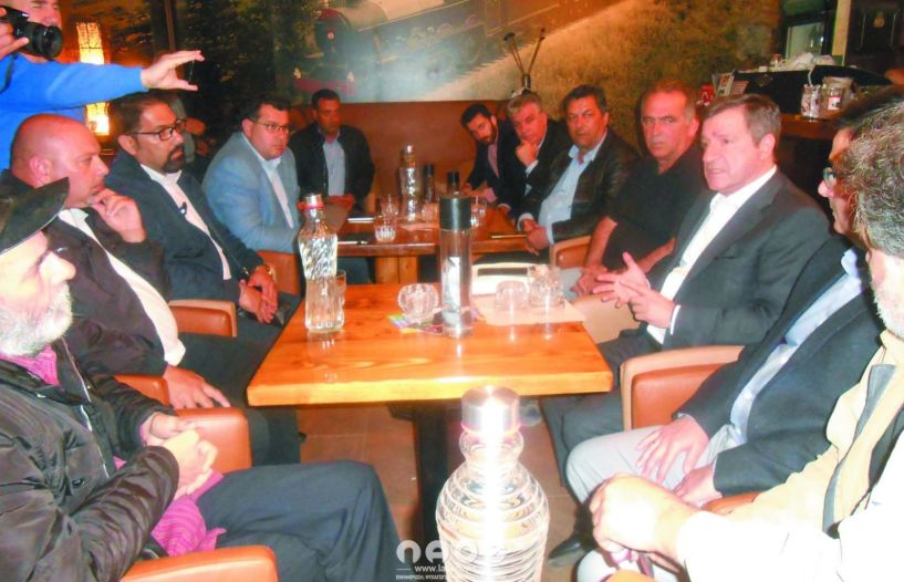 Επίσκεψη του π. Δημάρχου Αθηναίων και υποψήφιου ευρωβουλευτή με το ΚΙΝΑΛ Γιώργου Καμίνη, στην Αλεξάνδρεια
