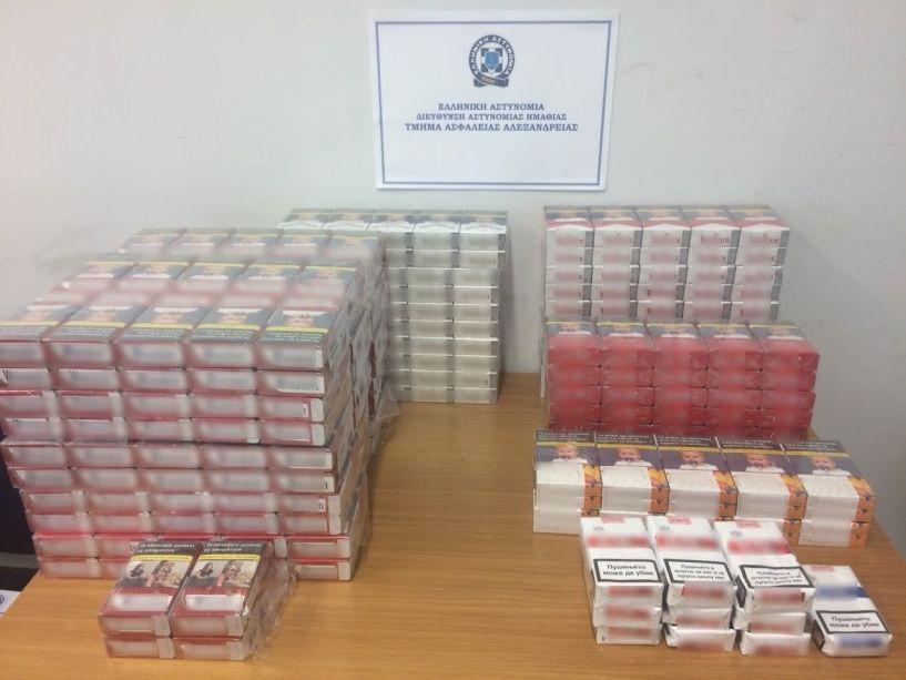 30χρονος συνελήφθη στην Ημαθία για κατοχή 314 πακέτων με λαθραία τσιγάρα