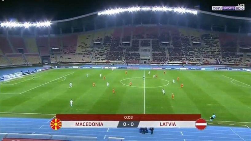 «Μακεδονία» η εθνική ομάδα των Σκοπίων σε αγώνα ποδοσφαίρου!!