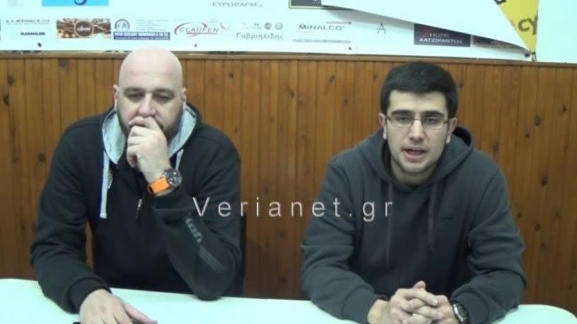 Δηλώσεις του προπονητή του ΑΟΚ Κώστα Ηλιάδη και του Χρήστου Μυριούνη της Πρέβεζας