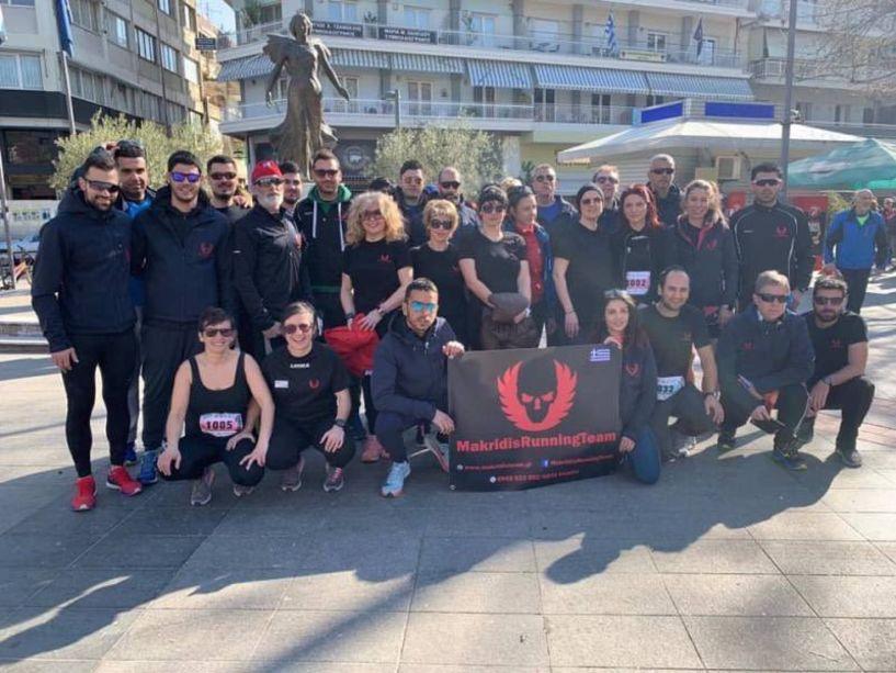 Στον 10ο Επετειακό Ημιμαραθώνιο Κατερίνης συμμετείχε η ομάδα Makridis Running Team