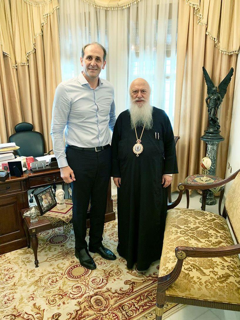Συνάντηση του Απόστολου Βεσυρόπουλο με τον Μητροπολίτη κ. Παντελεήμων