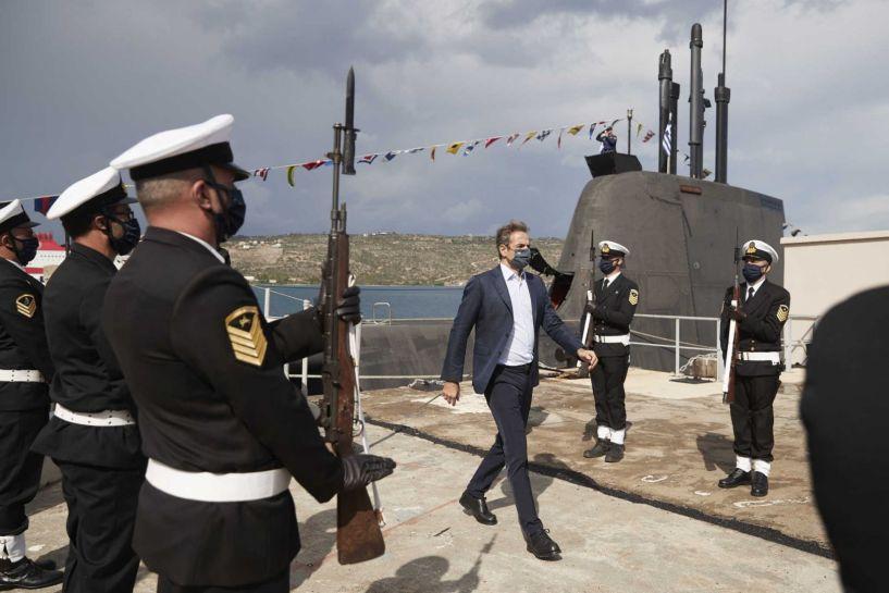 """Στο υποβρύχιο """"Κατσώνης"""" ο Κυριάκος Μητσοτάκης – Το μήνυμα για την 28η Οκτωβρίου (βίντεο)"""