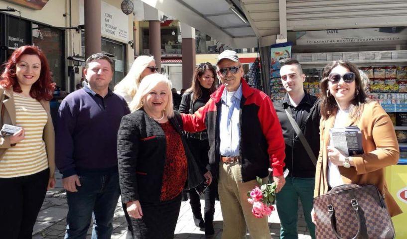 Στην αγορά της Βέροιας και στην Πατρίδα η Γεωργία Μπατσαρά