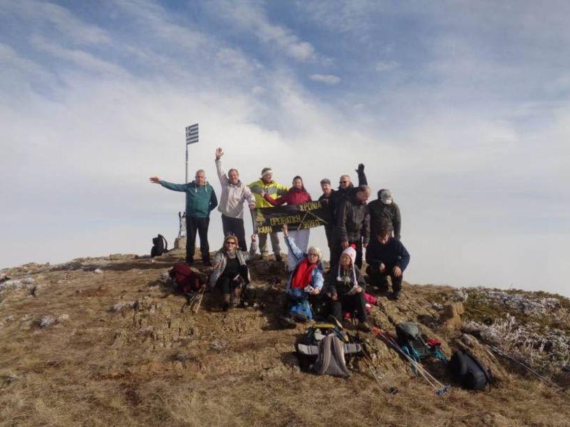Με τους 17 ορειβάτες Βέροιας στον Μπούρινο