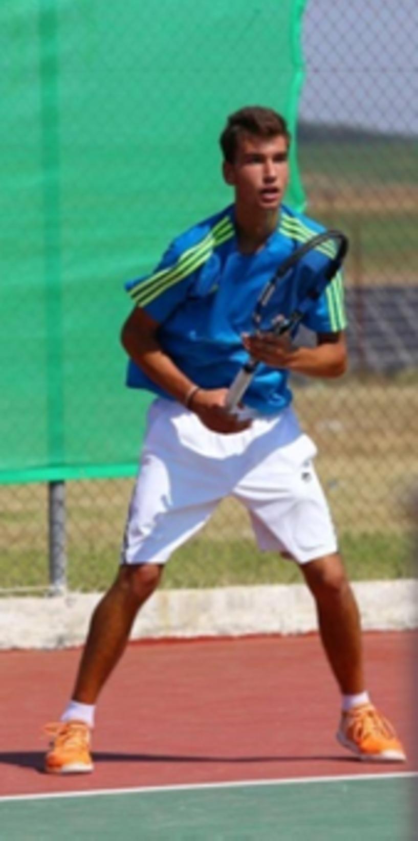 Νέα επιτυχία του Βεροιώτη τενίστα.  Προκρίθηκε στους 8 του ITF Juniors Skopje Open 2018 ο Ταραμονλής