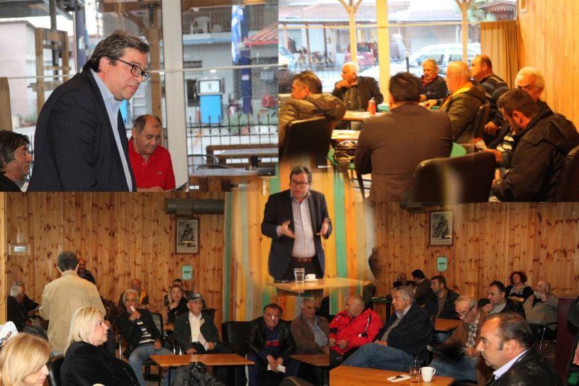 Επίσκεψη του Αντώνη Μαρκούλη σε Λυκογιάννη και Ν. Νικομήδεια