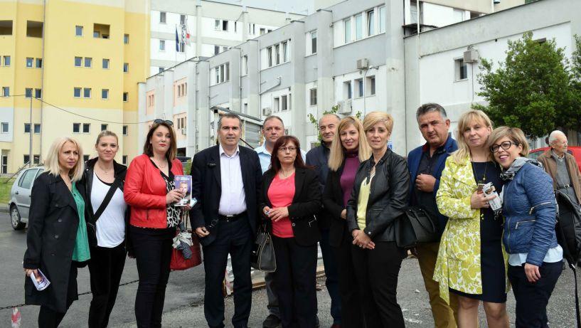 Επίσκεψη στο Νοσοκομείο Βέροιας πραγματοποίησε ο υποψήφιος δήμαρχος Παύλος Παυλίδης και οι