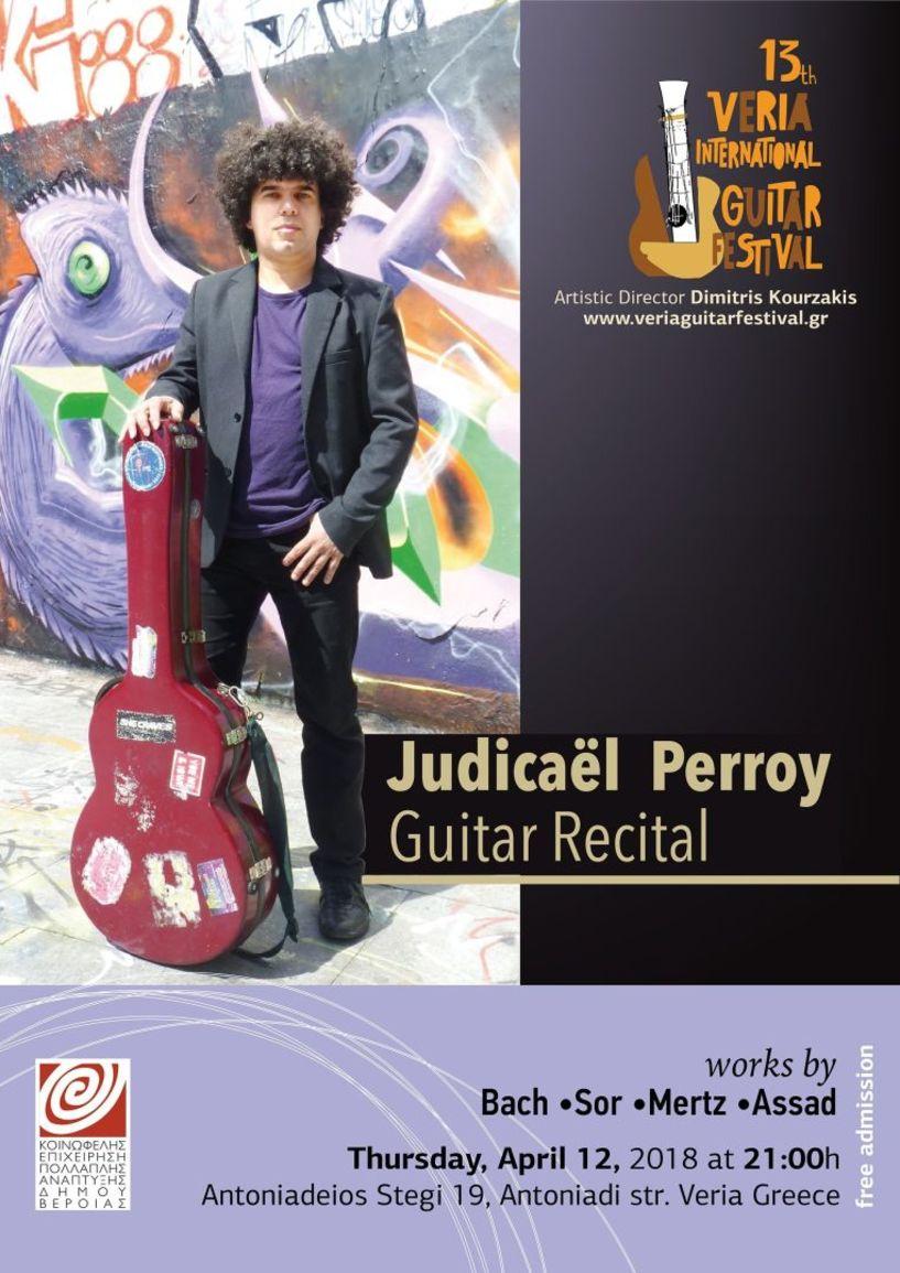 Ο πολυβραβευμένος Γάλλος σολίστ κιθάρας Judicaël Perroy απόψε στη «Στέγη»