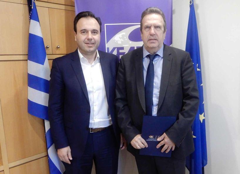 Συνάντηση του Προέδρου της ΕΣΕΕ κ. Γιώργου Καρανίκα με τον Πρόεδρο της ΚΕΔΕ κ. Δημήτρη Παπαστεργίου