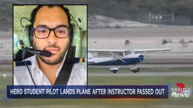 Λιποθύμησε ο εκπαιδευτής, προσγείωσε το αεροσκάφος ο μαθητευόμενος πιλότος! video