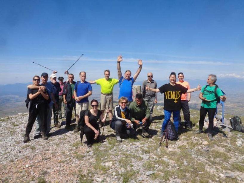 Στην κορυφή Πιπερίτσα του Ν. Πέλλας με τους Ορειβάτες Βέροιας