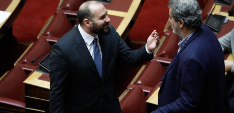 Συνάντηση είχε σήμερα ο Γραμματέας της ΚΕ Δημήτρης Τζανακόπουλος και η Γραμματέας της ΚΟ του ΣΥΡΙΖΑ Ολγα Γεροβασίλη, με τον Παύλο Πολάκη.