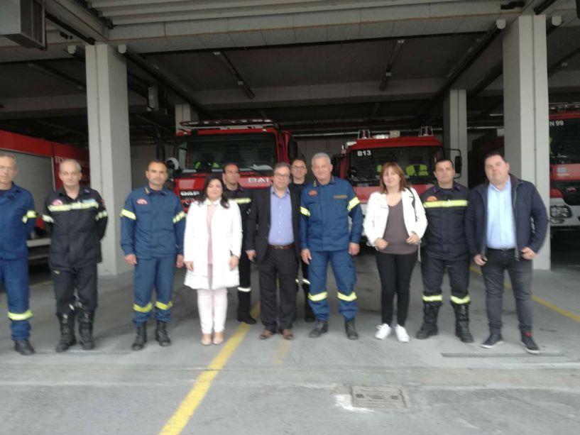Επίσκεψη του Αντώνη Μαρκούλη στην Πυροσβεστική Υπηρεσία Βέροιας