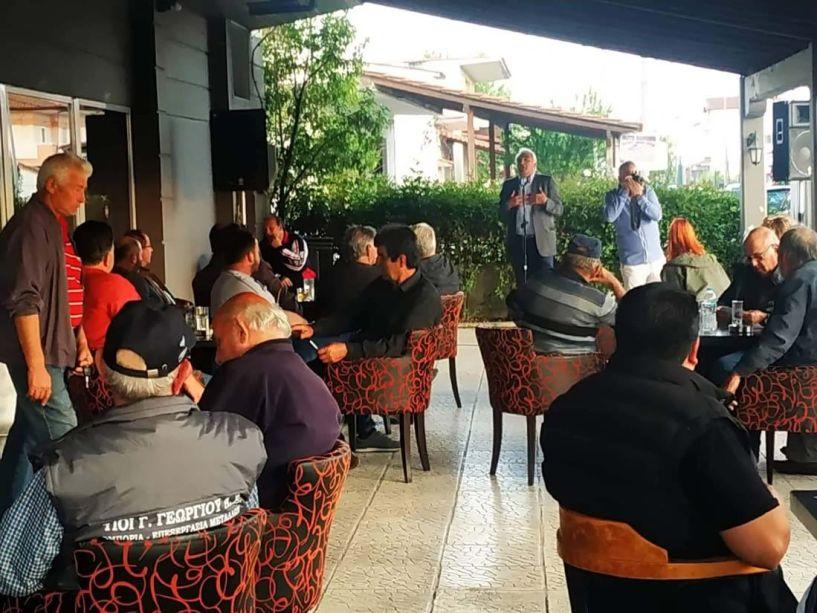 Ο υποψήφιος Δήμαρχος Δήμου Αλεξάνδρειας Μιχάλης Χαλκίδης στα χωριά  Πλάτανος, Κλειδί και Τρίκαλα