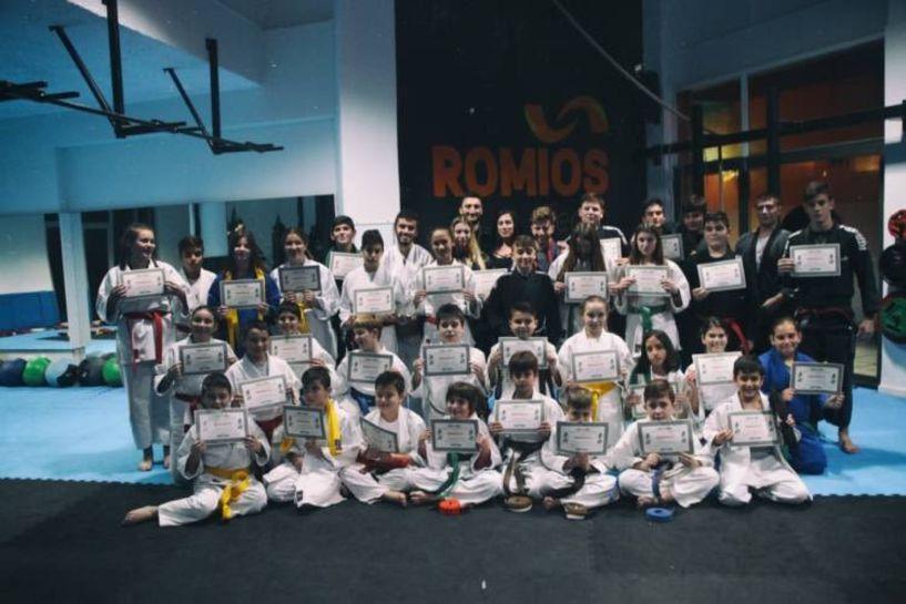 Εξετάσεις ανωτέρας ζώνης τμημάτων Jiu-Jitsu Α.Σ. Ρωμιός