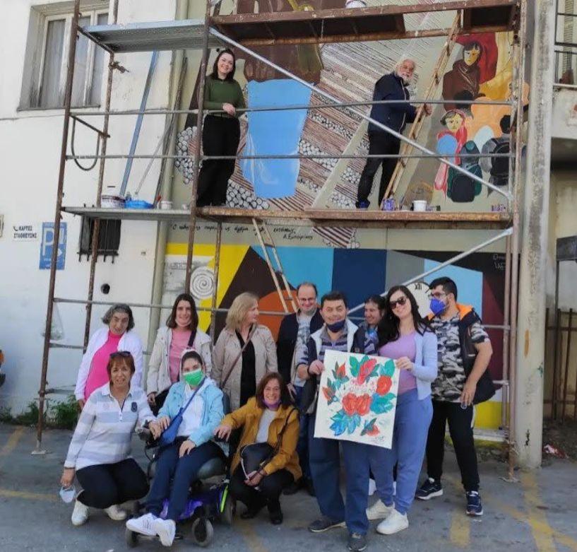 Συνάντηση των παιδιών από το Υφάδι με τους καλλιτέχνες της Yrban Art Naoussas 2021