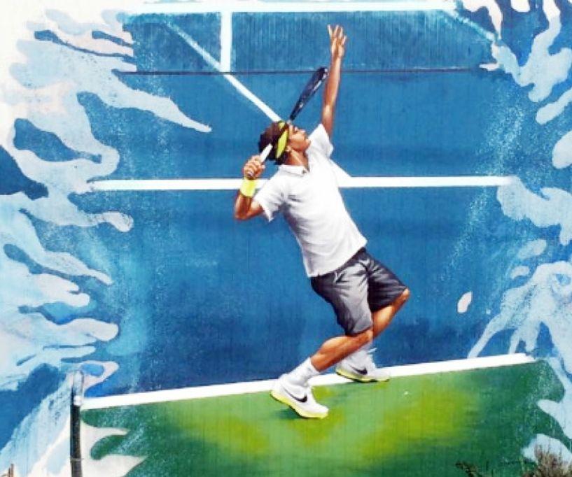Όταν η street art συναντά το tennis...