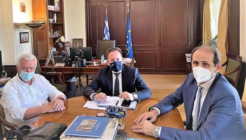 Ενημέρωση για την επίσκεψη στην Αθήνα του Δημάρχου Αλεξάνδρειας Παναγιώτη Γκυρίνη