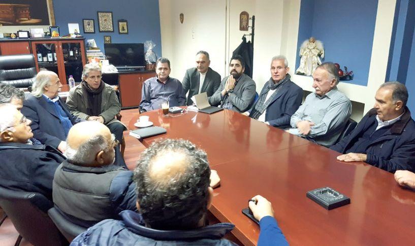 Σύσκεψη μεταξύ  Αντιπεριφερειάρχη και εκπροσώπων  των ΤΟΕΒ Ημαθίας