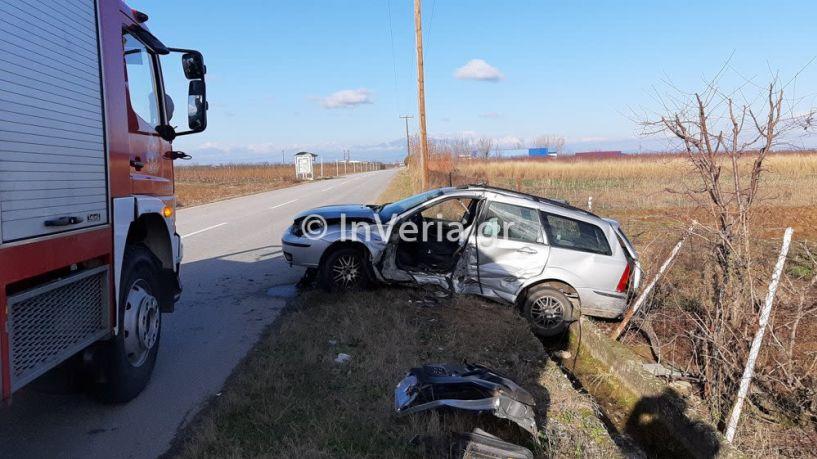 Ημαθία: Τροχαίο με έναν σοβαρά τραυματισμένο στο δρόμο Πατρίδας - Αγ. Γεωργίου