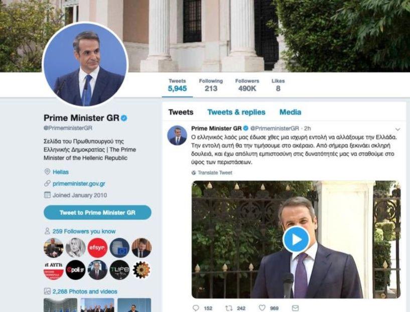 Τρέλα... το twitter του πρωθυπουργού – Άλλαξε μόνο τη φωτογραφία... και φαίνεται να έχει υπογράψει την Συμφωνία των Πρεσπών!