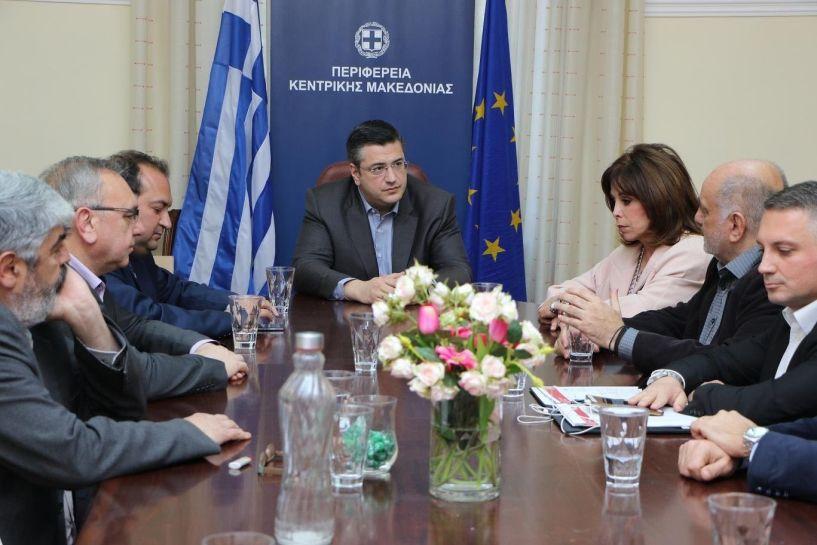 Με τη νέα διοίκηση του Επαγγελματικού Επιμελητήριου Θεσσαλονίκης συναντήθηκε ο Απόστολος Τζιτζκώστας