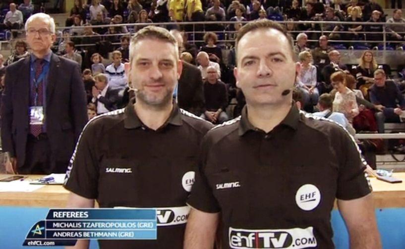 Στο Μανχάιμ με επιτυχία οι διεθνείς διαιτητές  Τζαφερόπουλος και Μπέτμαν