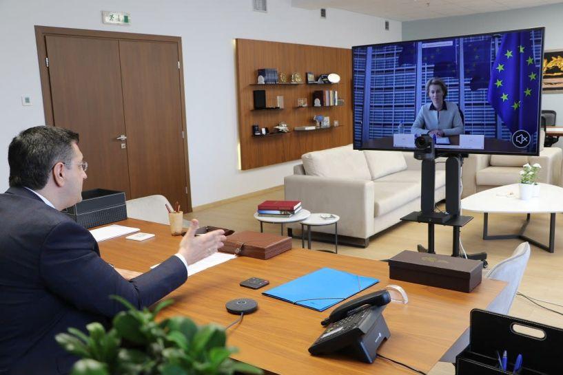 Σύσκεψη του Προέδρου της Ευρωπαϊκής Επιτροπής των Περιφερειών Απόστολου Τζιτζικώστα με την Πρόεδρο της Κομισιόν Ursula von der Leyen