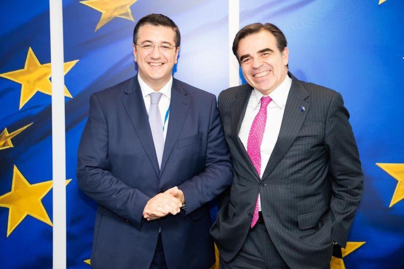 Συνάντηση του Προέδρου της Ευρωπαϊκής Επιτροπής των Περιφερειών Απόστολου Τζιτζικώστα με τον Αντιπρόεδρο της Κομισιόν Μαργαρίτη Σχοινά