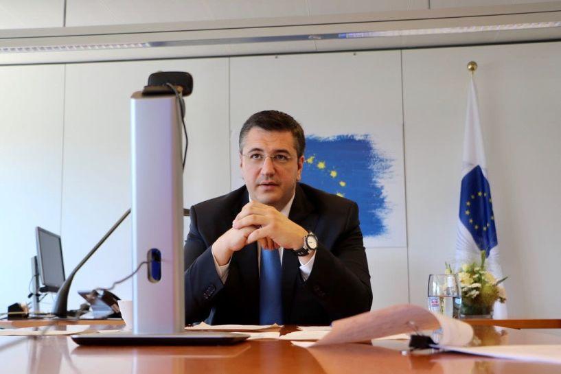 Σύσκεψη του Προέδρου της Ευρ. Επιτροπής των Περιφερειών Απόστολου Τζιτζικώστα με τον Εκτελεστικό Αντιπρόεδρο της Κομισιόν, αρμόδιο Επίτροπο για την Πράσινη Συμφωνία Frans Timmermans