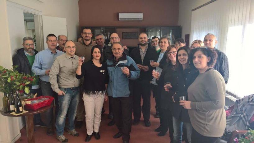 Δεξιώθηκε τους υπαλλήλους του δήμου Νάουσας ο δήμαρχος: Πολύ καλό το 2017, χρονιά προκλήσεων και ευκαιριών το 2018