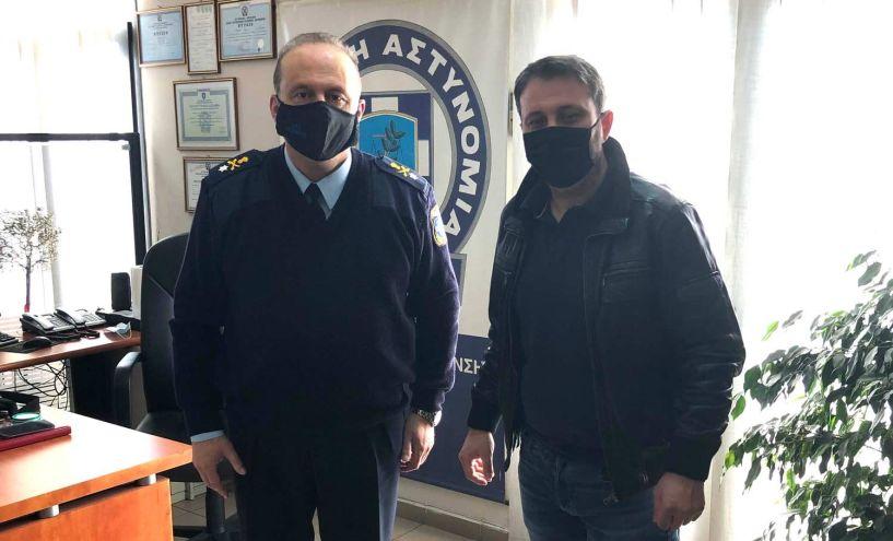 Με τον Αστυνομικό Διευθυντή Ημαθίας συναντήθηκε ο πρόεδρος των ιδιοκτητών κέντρων διασκέδασης Βέροιας